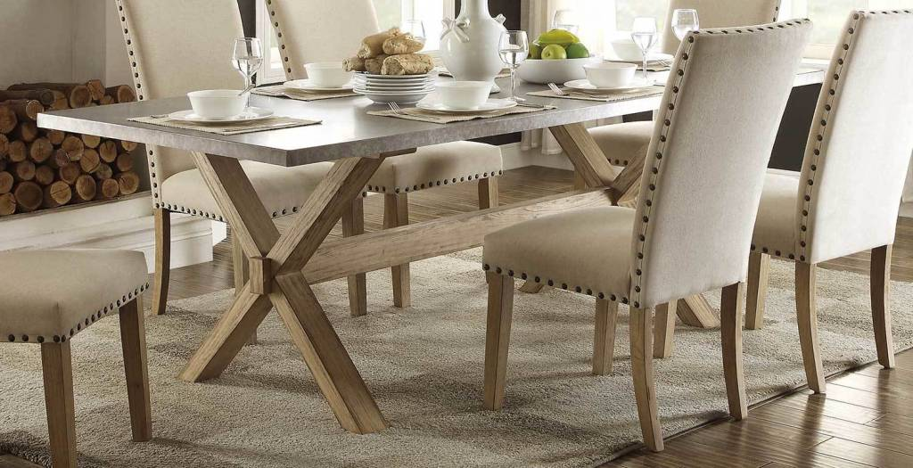 Luella X-Trestle Dining Table - Beckman\'s