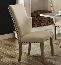 Homelegance Luella Side Chair, Weathered Oak