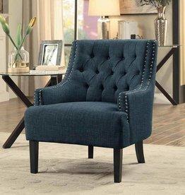 Homelegance Charisma Accent Chair, Indigo