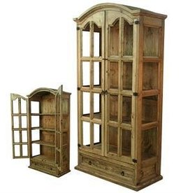 Wood Display/Curio Cabinet