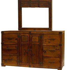 Walnut Oviedo Door Dresser W/Mirror