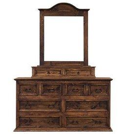 "65"" Dresser 8-Drawers W/Mirror and Jewelry Box- Medio Finish"