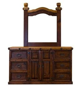 Nogal/Walnut Don Carlos Dresser W/Mirror