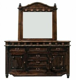 Grande Door Dresser W/Mirror Medio Lacquer