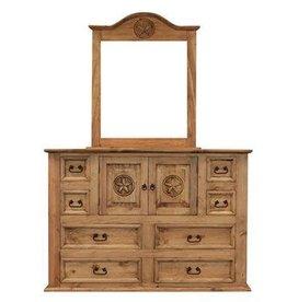 Mansion Dresser and Mirror W/Star