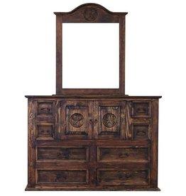 Mansion Dresser and Mirror W/Star- Medio
