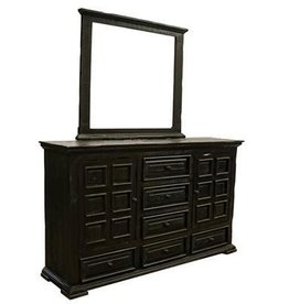 Terra Extra Dark Dresser and Mirror
