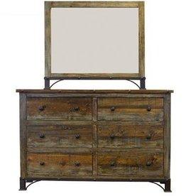 Urban Rustic Dresser W/Mirror