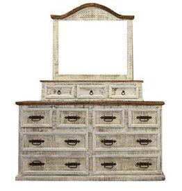 White 8 Drawer Dresser W/Mirror