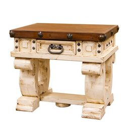 Don Carlos End Table White/Walnut
