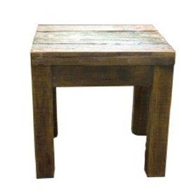 Old Door End Table