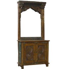 Mirror Hall tree Cabinet
