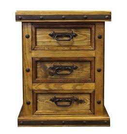 3 Drawer W/Wood Panels