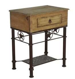 Nightstand W/Iron Base