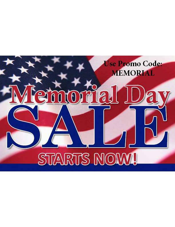 Memorial Week Sale Starts Now!