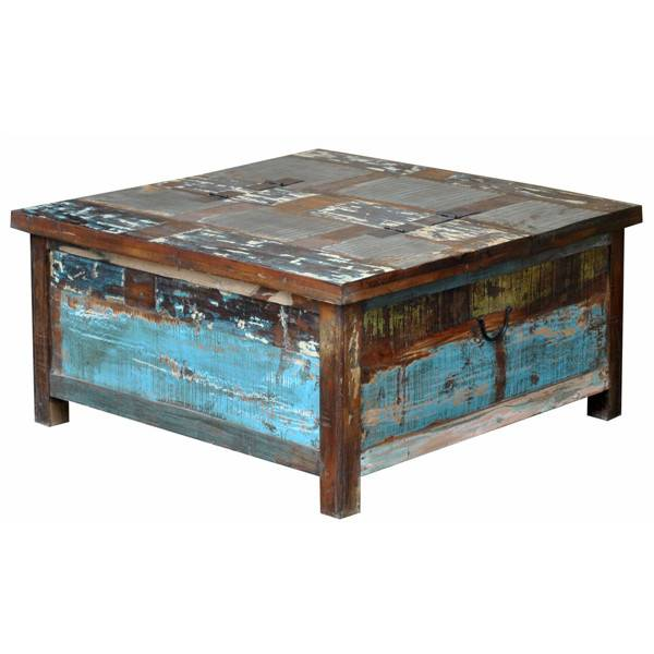 Painted Lift Top Trunk/Coffee Table ...