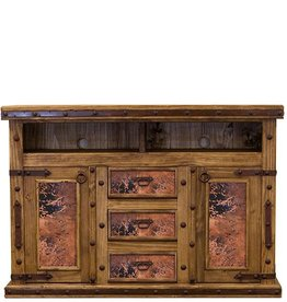 Natural Copper TV/Dresser W/Doors