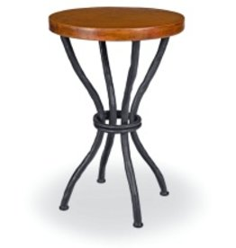 "Woodland Accent Table w/18"" Round Copper Top"