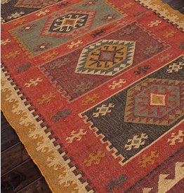 Bedouin Amman Rug 2x3, Zinfandel & Wood Thrush