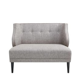 Sorano Tufted Round Arm  Settee