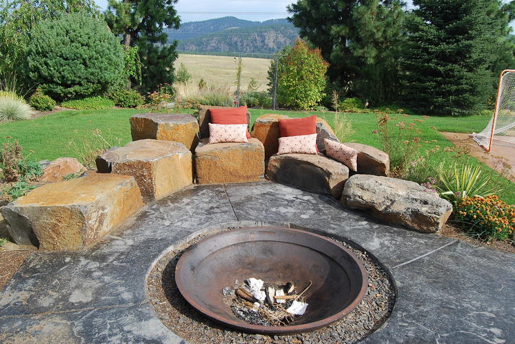 rock crusher cone fire pit