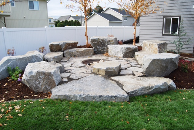 rock outdoor patio