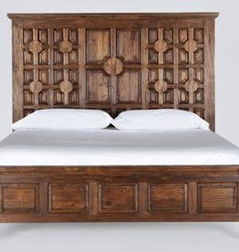 Carved Panel Bed King