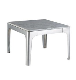 Carerra End Table with Marble Top