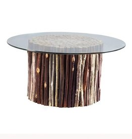 Topi Coffee Table with Glass Top