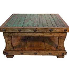 Square Coffee Table W/Shelf