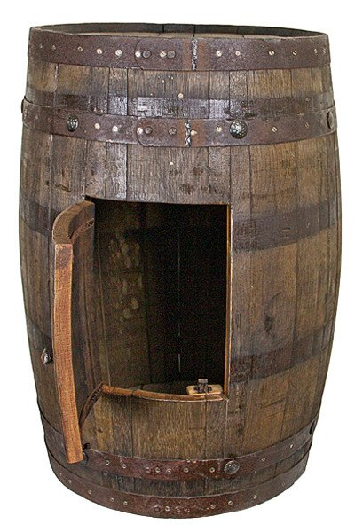 Whiskey Barrel Sink Cabinet