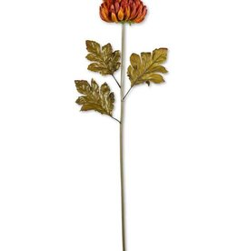 36 Inch Rust Ball Mum Stem
