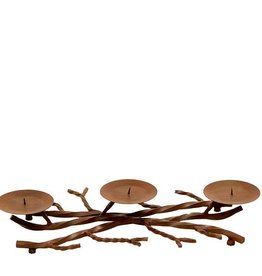 3 Candle Iron Branch Holder