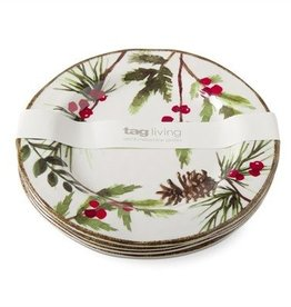 Greenery Melamine Salad Plate Set of 4