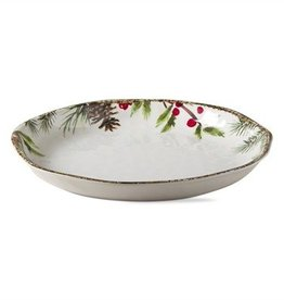 Greenery Melamine Shallow Bowl Tray