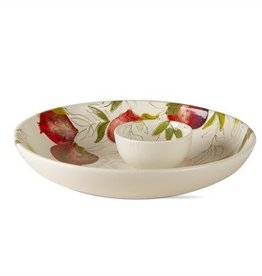 Pomegranate Chip and Dip Set of 2