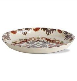 Ikat Melamine Shallow Bowl Tray