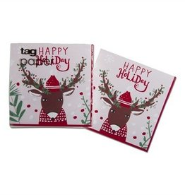 Hip Holiday Deer Paper Cocktail Napkin