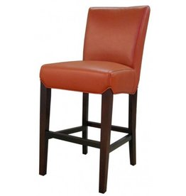 Milton Bonded Leather Chair, Pumpkin