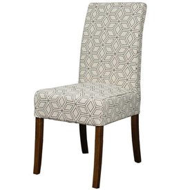 Valencia Fabric Chair Amber Legs, Geo Diamond
