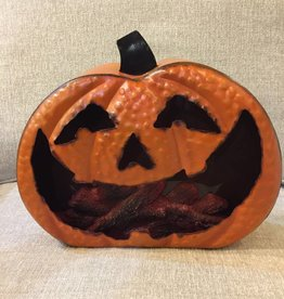"Lighted Metal Pumpkin 12""L"