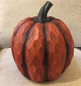 "12""H Magnesium Pumpkin Figurine, Burnt Orange"
