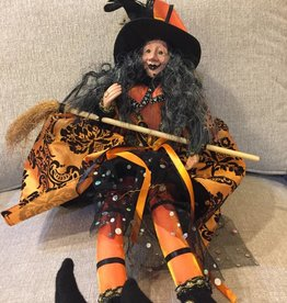 "24""H Fabric Halloween Witch"