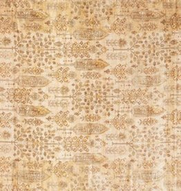 Anastasia Collection  Antique Gold Ivory 1'6in x 1'6in.