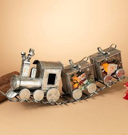 Metal Silver Holiday Train 29""