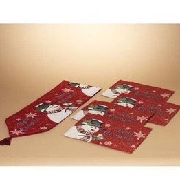 Holiday Snowman Table Runner w/ Placemats