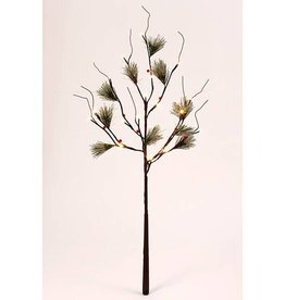 """Frosted Pine Lighted Branch 39""""H"""