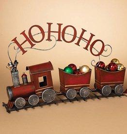"Metal ""Ho-Ho-Ho"" Holiday Train  28""L"