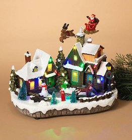 Electric Lighted Holiday Village