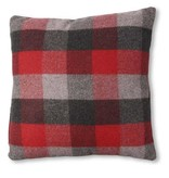 Red and Grey Plaid Pillow 18